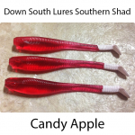 Down South Southern Shad Lures - Candy Apple