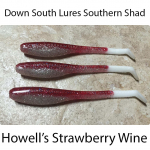 Down South Southern Shad Lures - Howell's Strawberry Wine