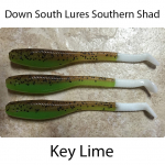 Down South Southern Shad Lures - Key Lime
