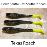Down South Southern Shad Lures - Texas Roach
