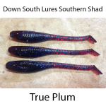 Down South Southern Shad Lures - True Plum