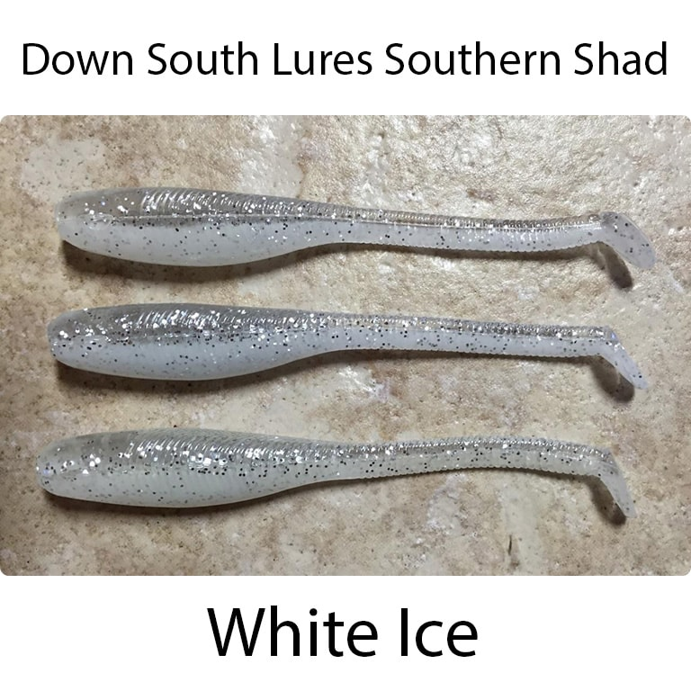 Down South Lures Southern Shad White Ice