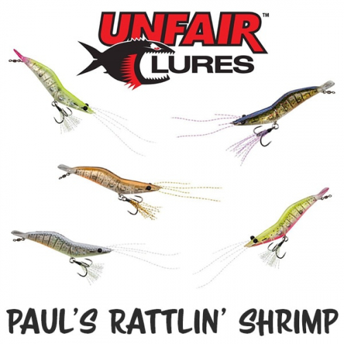 Unfair Lures Pauls Rattlin Shrimp