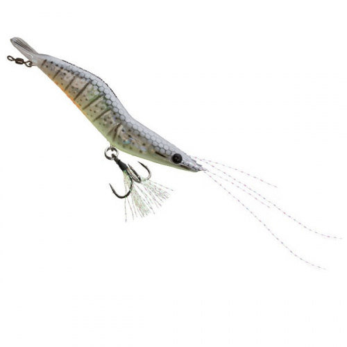 Unfair Lures Pauls Rattlin Shrimp 01 Liveglow White