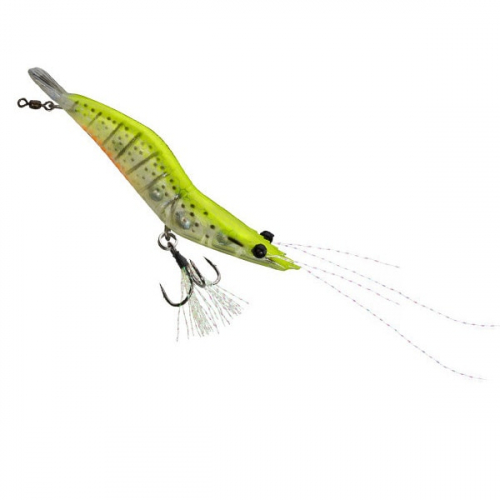 Unfair Lures Pauls Rattlin Shrimp 02 Natural Chartreuse
