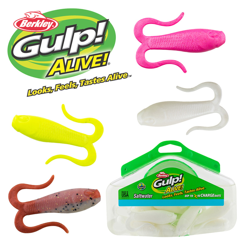 Berkley Gulp Alive Doubletail Swimming Mullet Half Pint Bucket