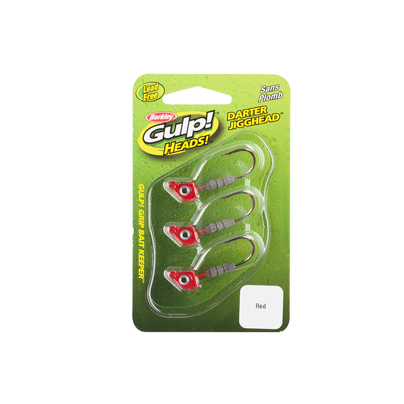 Berkley Gulp Darter Jigghead Red Package