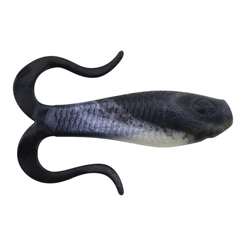 Berkley Gulp Doubletail Minnow Grub Black Shad