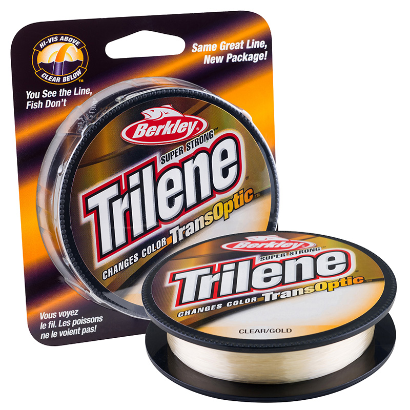 Berkley Trilene Transoptic Monofilament Color Chaning Line Clear Gold