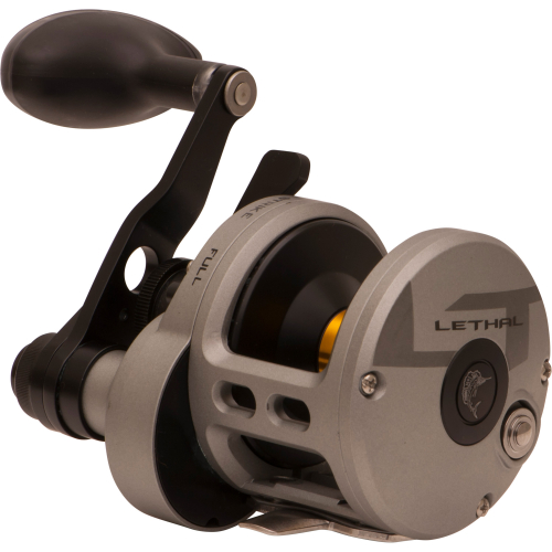 FIN-NOR LETHAL TWO SPEED LEVER DRAG REEL LTL16II