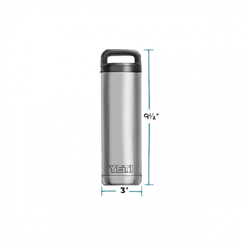 YETI RAMBLER BOTTLE 18 OZ MEASUREMENTS