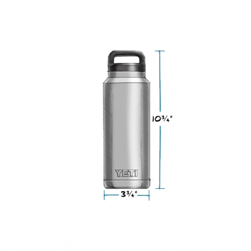YETI RAMBLER BOTTLE 36 OZ MEASUREMENTS
