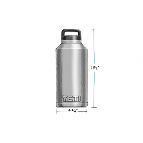 YETI RAMBLER BOTTLE 64 OZ MEASUREMENTS