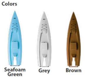 SOLO SKIFF COLORS - Seafoam Green, White and Brown
