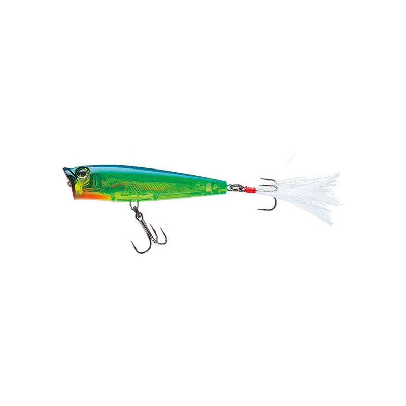 YO-ZURI 3DS POPPER F1134-HCL HOLOGRAPHIC CHARTREUSE LIME
