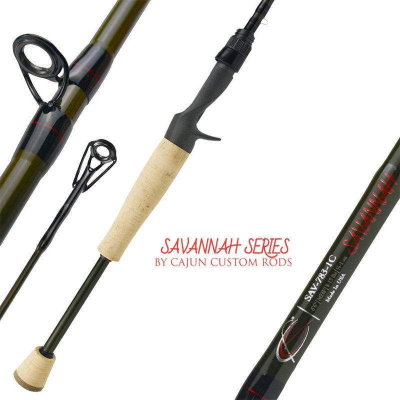 CAJUN CUSTOM RODS SAVANNAH CASTING RODS