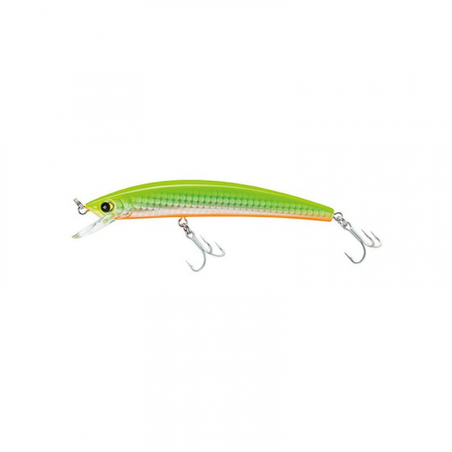 YO-ZURI CRYSTAL FLOATING MINNOW R1124-HCL HOLOGRAPHIC CHARTREUSE